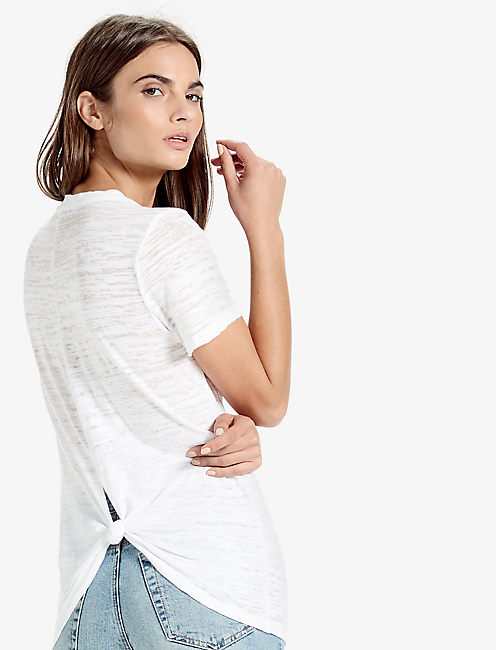 THE ANGELES TIE KNOT BACK BURNOUT TEE,