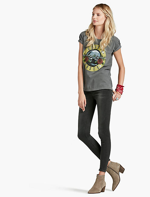 LUCKY GUNS & ROSES BULLET SEAL TEE