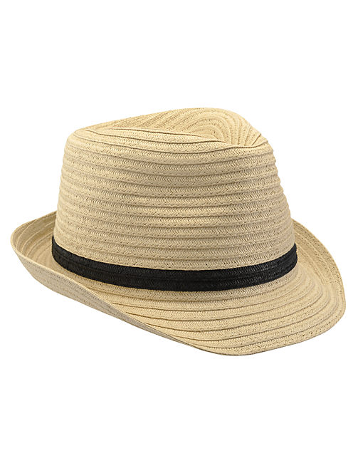 Straw Fedora, #130 NATURAL