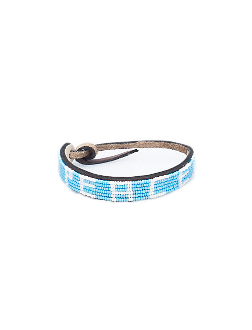 PEACE BRACELET, LIGHT BLUE