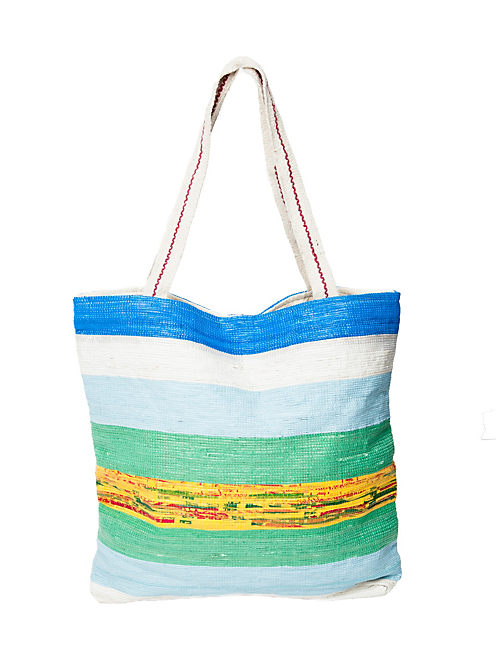 STRIPED RECYCLED TOTE, MULTI