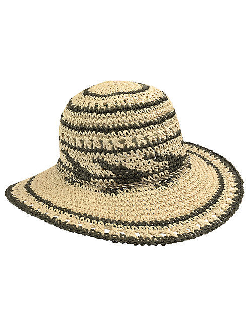 AZTEC PRINT HAT, #130 NATURAL
