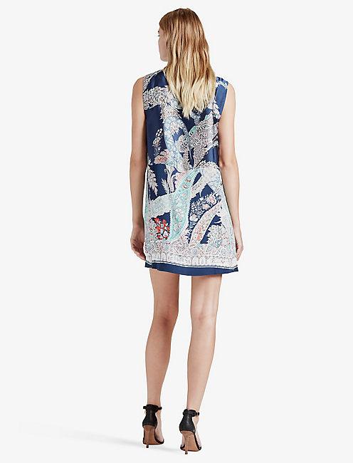 PAISLEY SHIFT DRESS, MULTI
