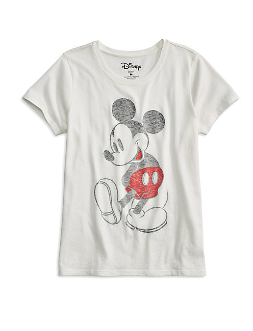 MICKEY MOUSE TEE, LUCKY WHITE