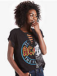 AC/DC LACE UP TEE, 001 LUCKY BLACK