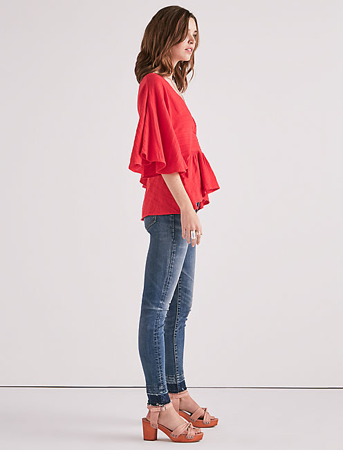 Lucky Pintuck Flowy Top