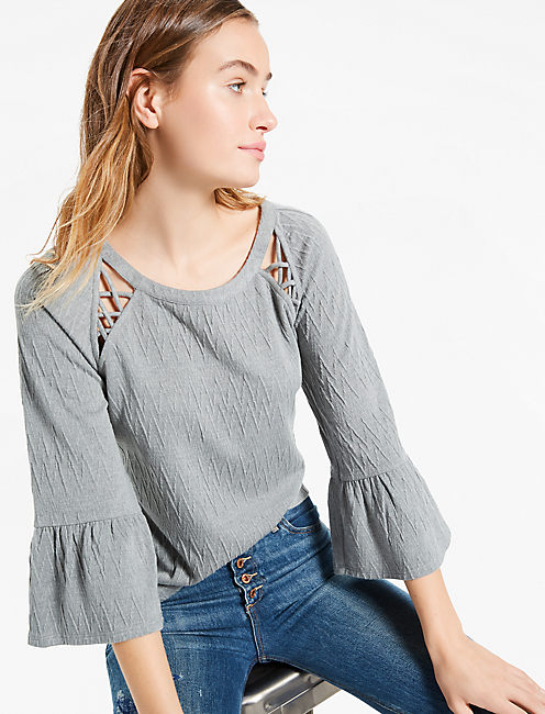 LACE DETAIL TOP,
