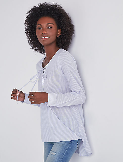 LACE UP WRAP FRONT TOP,