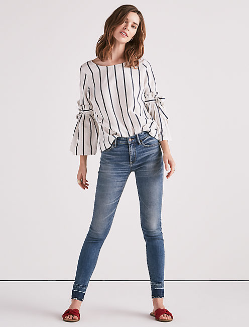 STRIPE BELL SLEEVE TOP,