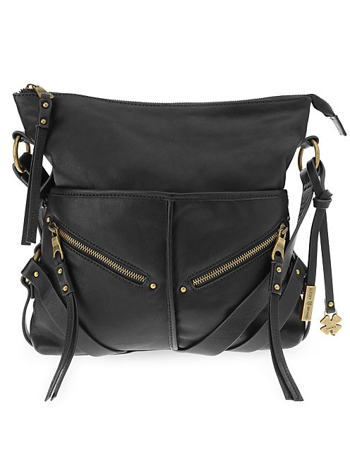 DELTA CROSSBODY HOBO, BLACK