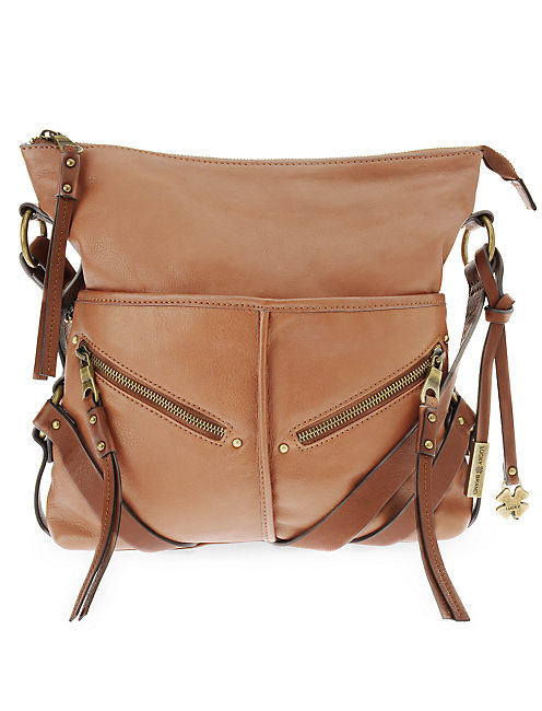 DELTA CROSSBODY HOBO, MEDIUM DARK BROWN