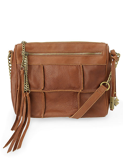 LOGAN CROSSBODY ZIP, MEDIUM DARK BROWN
