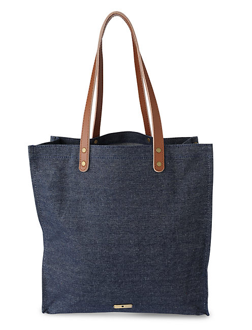 LUCKY DENIM TOTE, DARK BLUE