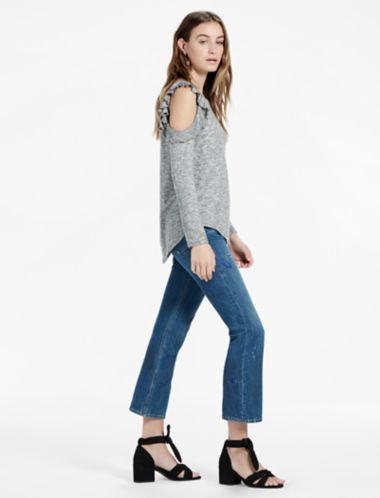 Lucky Cold Shoulder Ruffle Top