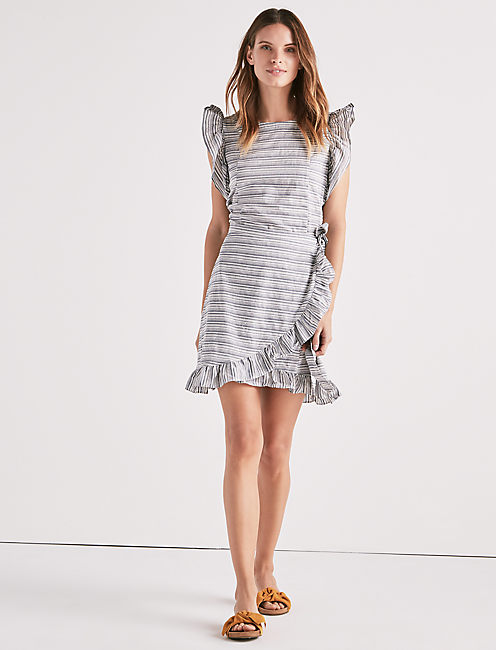 Lucky Stripe Ruffle Dress