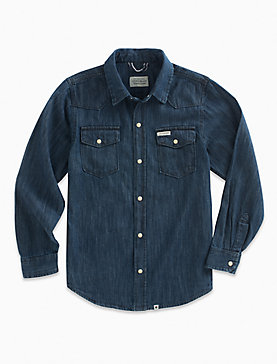LONG SLEEVE DK DENIM SHIRT