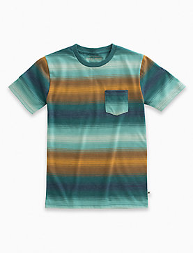 SHORT SLEEVE OMBRE STRIPE TEE