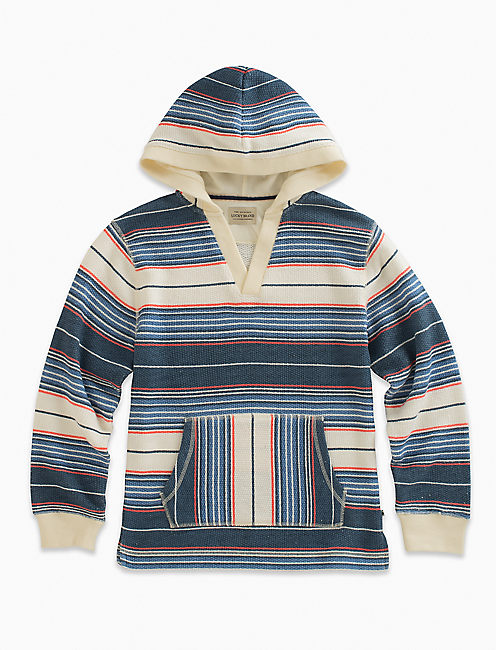 LONG SLEEVE FRENCH TERRY STRIPE HOODY,