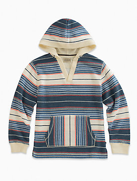 LONG SLEEVE FRENCH TERRY STRIPE HOODY