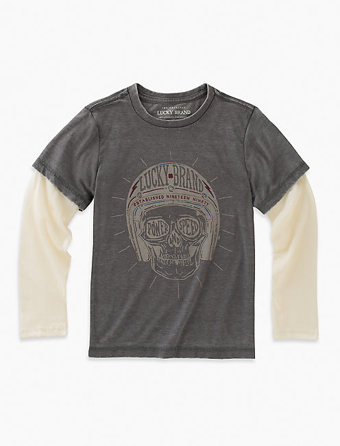 SKULL HELMET LONG SLEEVE TEE,