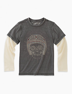 SKULL HELMET LONG SLEEVE TEE
