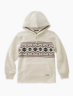 PULLOVER HOODY WITH CHEST PRINT