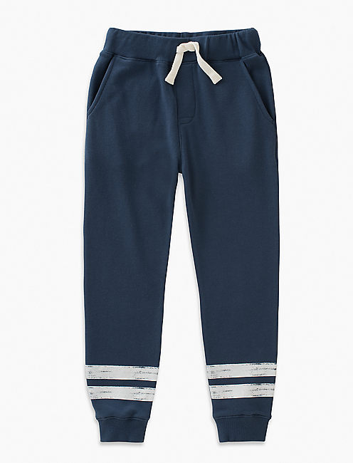 STRIPE KNIT JOGGER, DARK BLUE