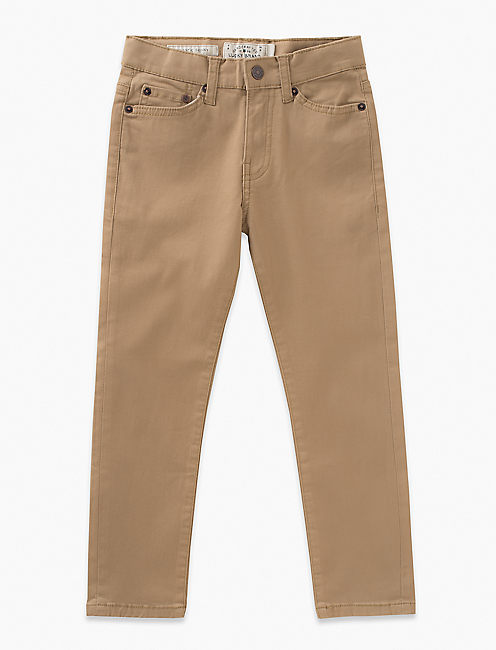 5 POCKET STRETCH TWILL PANT, MEDIUM DARK BROWN