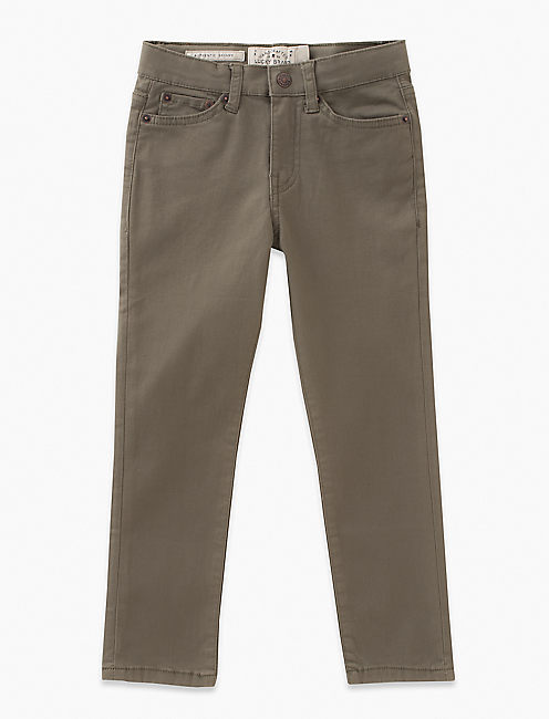 5 POCKET STRETCH TWILL PANT, DARK GREEN