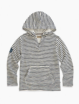 V NECK PRINTED HOODY