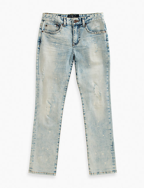 DENIM PANTS WITH PAINT SP, LIGHT BLUE
