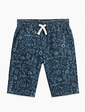 AZTEC PRINT DENIM SHORT