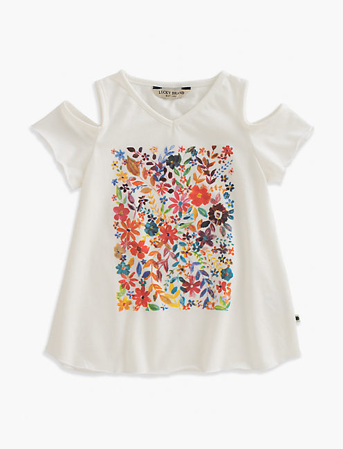 PENNY PAINTED FLORAL TEE, PEARL