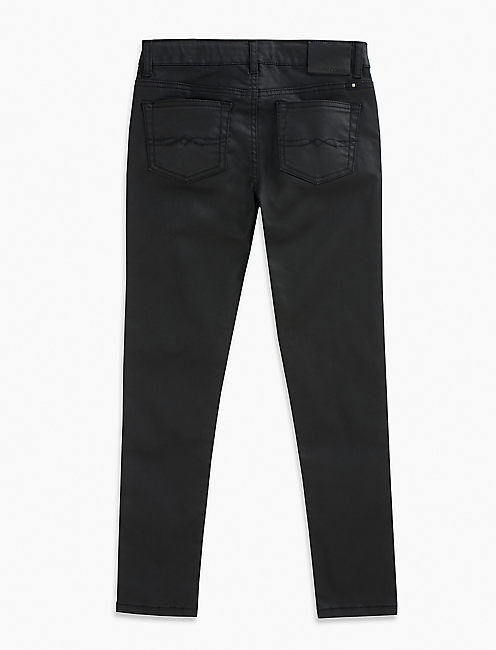 JESSI COATED DENIM, RINSE