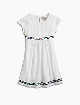 DRESS W/ EMBROIDERED TAPE