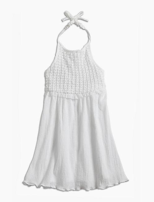BONNIE CROCHET DRESS, OPEN WHITE/NATURAL