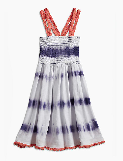 TIE DYE STRIPE DRESS,