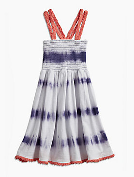 TIE DYE STRIPE DRESS