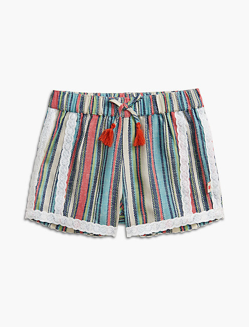 STRIPE SOFT SHORT, OPEN WHITE/NATURAL