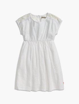 MESH LACE & EYELET DRESS