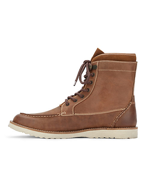 MUNFORD LACE UP BOOT, DARK BROWN