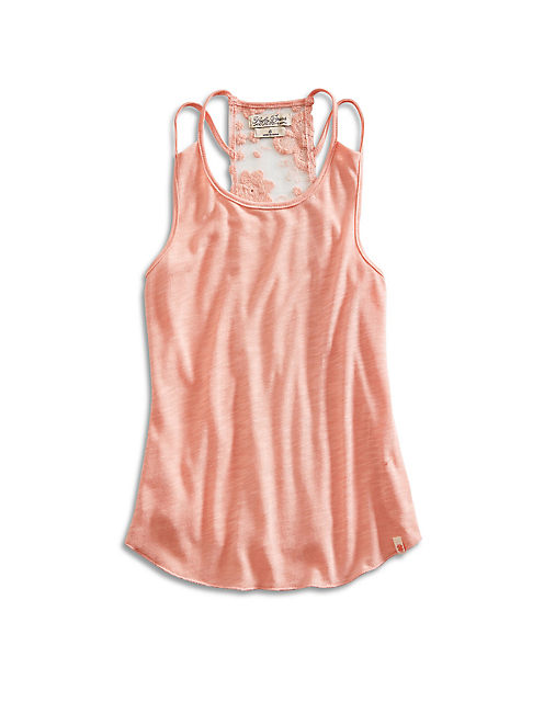 ASHLEIGH LACE TANK, LIGHT PINK