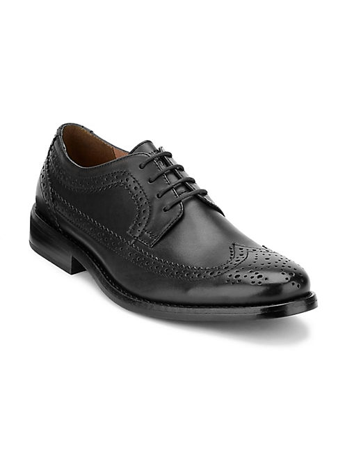 WELLS WINGTIP, BLACK