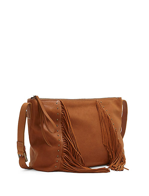 ASPEN CROSSBODY SATCHEL, LIGHT BROWN