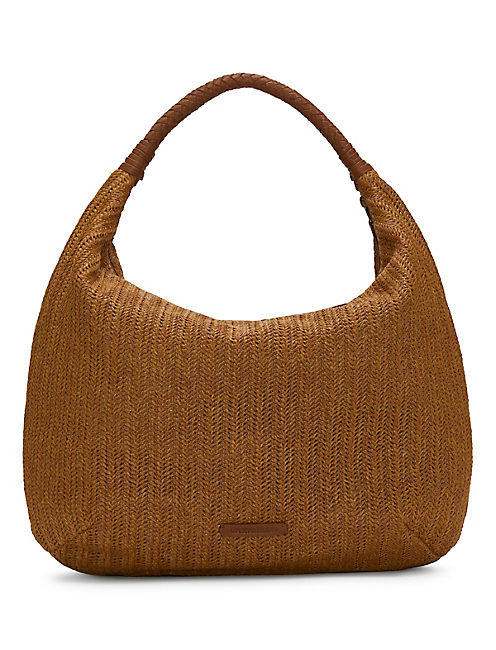 FIG HOBO BAG, LIGHT BROWN