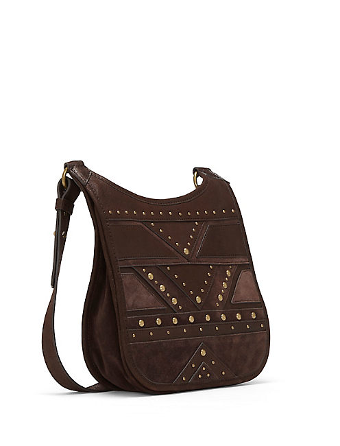 JONI SHOULDER BAG, OPEN BROWN/RUST