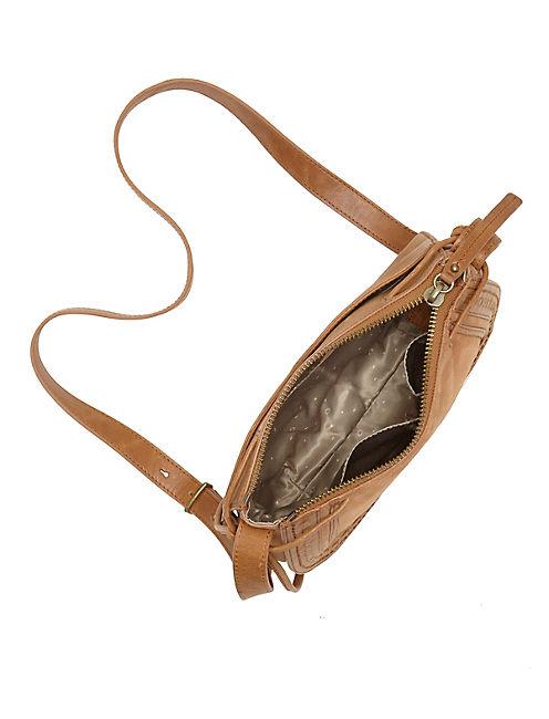 WESTON SHOULDER BAG, LIGHT BROWN