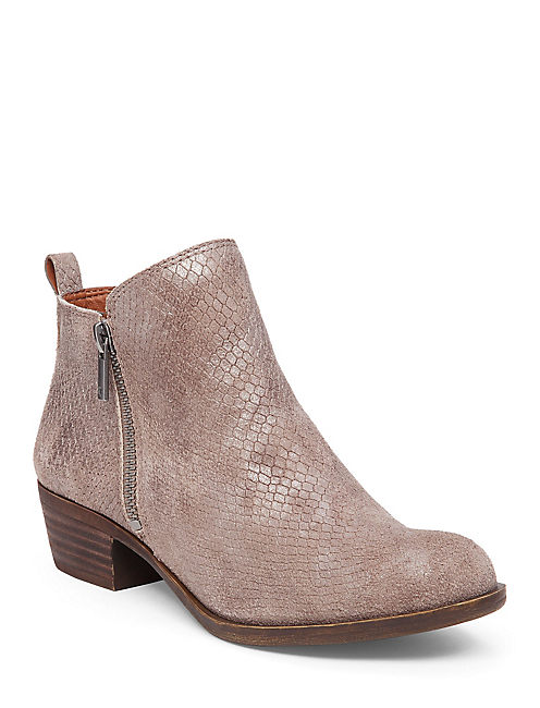 BASEL FLAT BOOTIE, MEDIUM DARK BEIGE