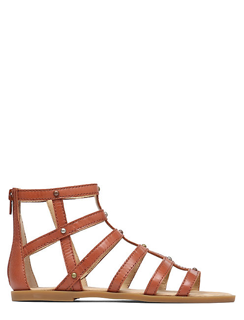 BEVERLEE GLADIATOR SANDAL, DARK RED