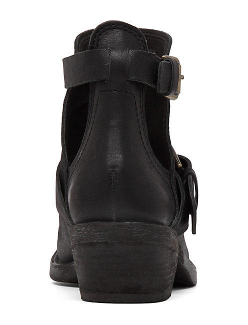 CHAVES OPEN BUCKLE BOOTIE, BLACK